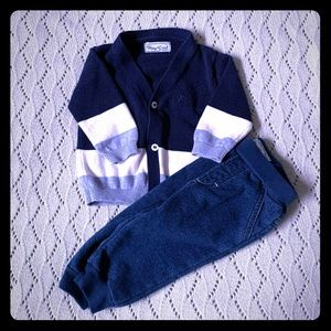 Mayoral Cardigan and Jeggings Set